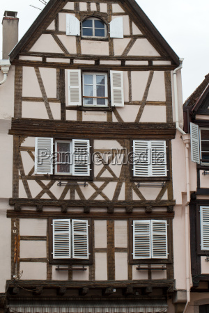 half timbered houses of colmar alsace