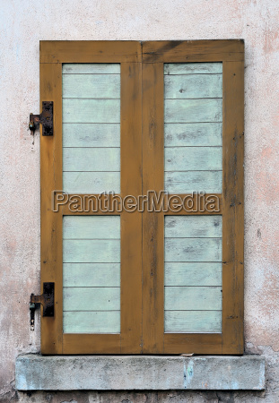 shutter on an old house