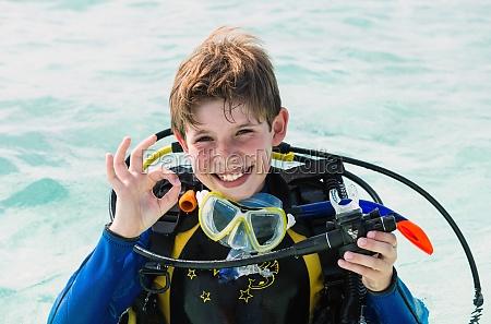 scuba divers child