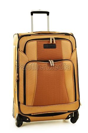large suitcase isolated on white