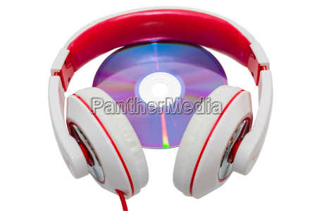 colorful casual wired headphones and multimedia