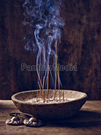 shell wood incense cymbal