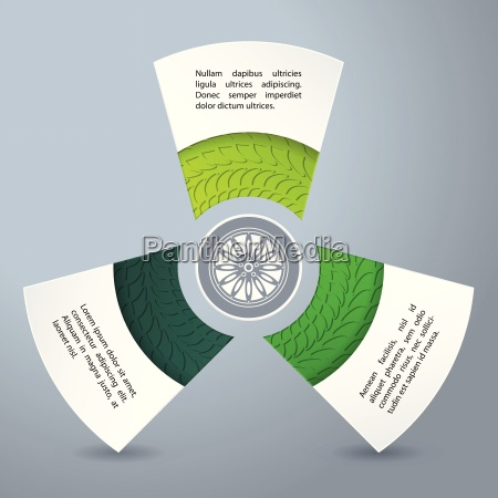 infographic background design with tire treads