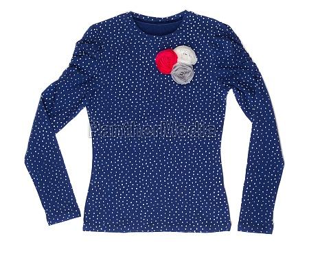blue polka dot elegant ladies jacket