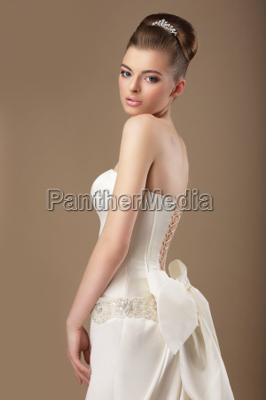 formal party rich woman in white