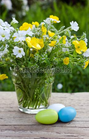 easter easter eggs eggs colored wildflowers