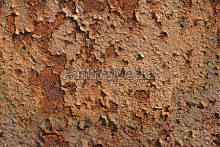 rust on the surface of metal