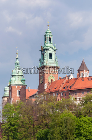 wawel cathedral towers in krakow