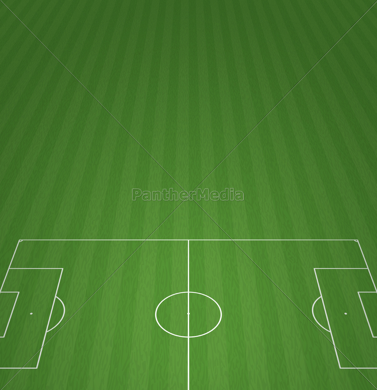 Football Field 3 D Background Vector Illustration Royalty Free