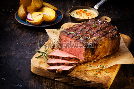 delicious lean rare roast beef
