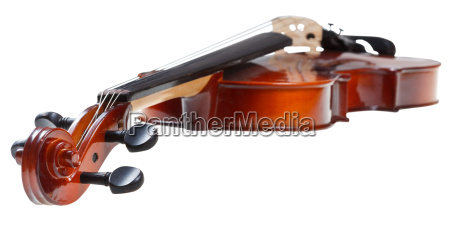 scroll of classical wooden fiddle close