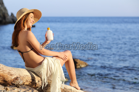 woman on holidays on the