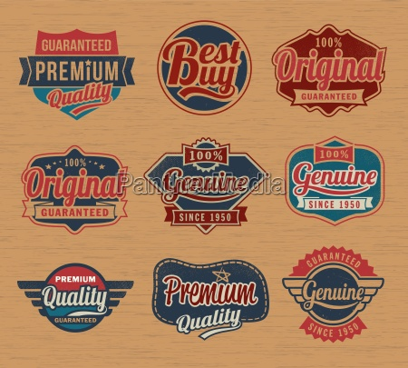 vintage retro label badges vector