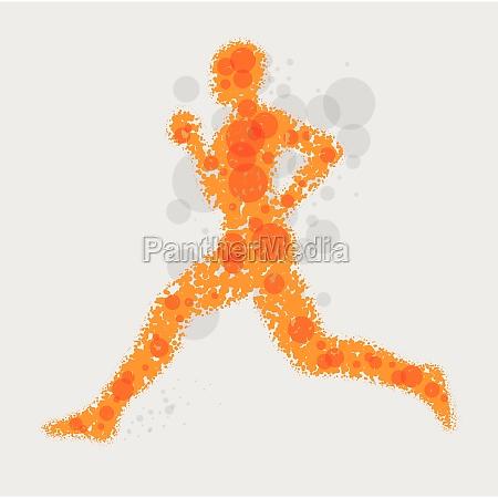 running man abstract vector illustration