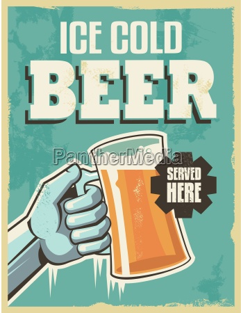 vintage retro beer poster vector design
