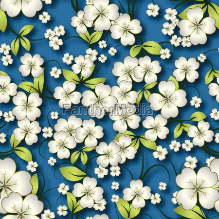abstract seamless floral background with spring