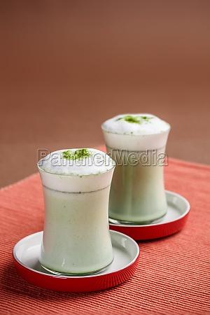 two matcha latte