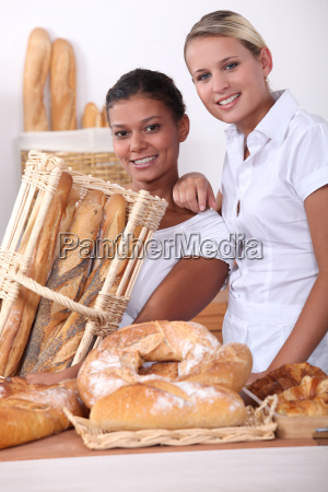 two young women working in a