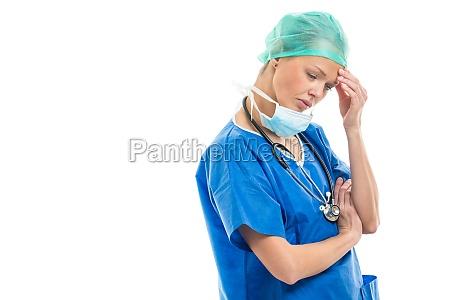 portrait of a female doctorsurgeon feeling