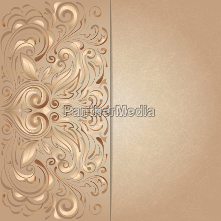background for invitation with brown floral