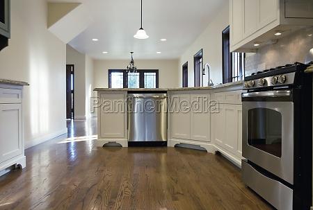 hardwood floor in traditional kitchen pasadena