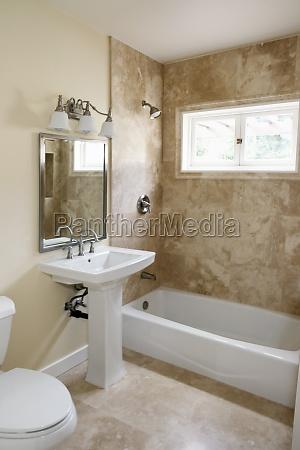 pedestal sink in bathroom pasadena california