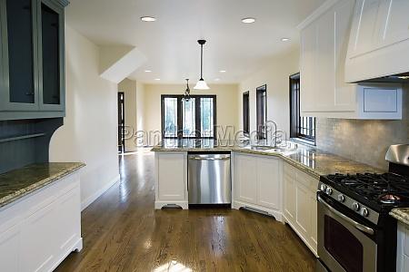 hardwood floor in kitchen pasadena california