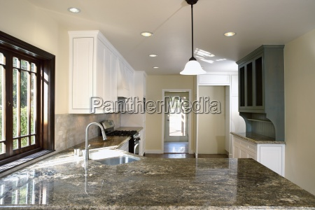 granite countertops in traditional kitchen pasadena