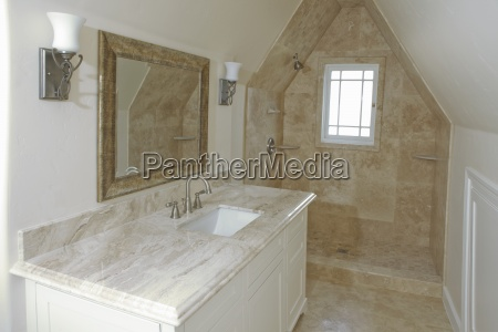 interior of traditional domestic bathroom pasadena