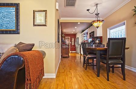 hardwood floors through dining room and