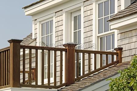 balcony railing of single family home