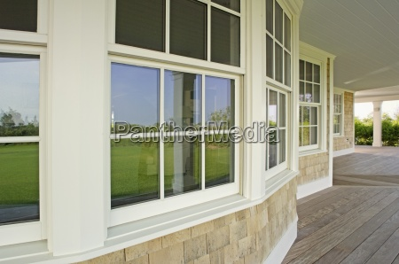 glass windows in single family home