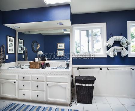blue ocean themed bathroom encinitas california