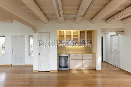 empty bar area in contemporary home