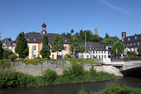 river dill in town dillenburg hesse