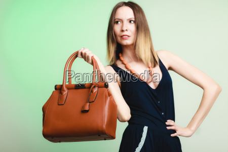 elegant outfit stylish woman with brown