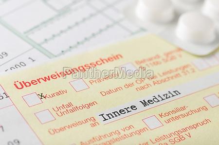 transfer slip internal medicine