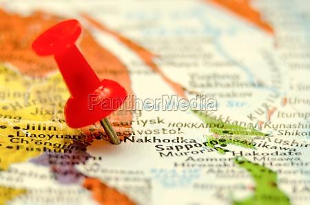nakhodka city pin on the map