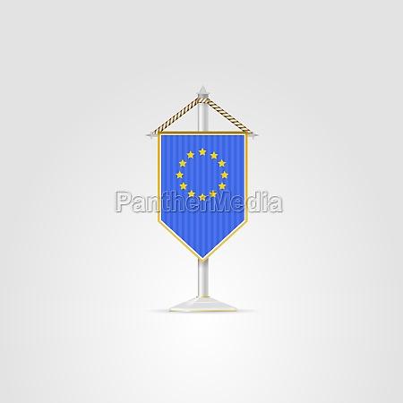 illustration of national symbols of european