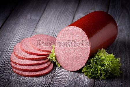fresh salami sausage