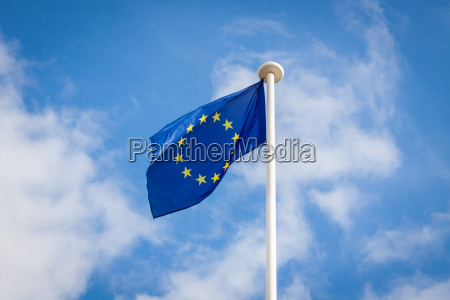 european flag on a flagpole