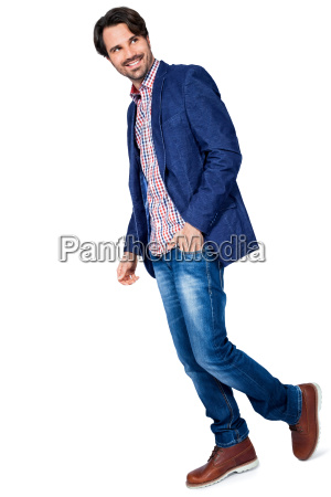 young man in trendy casual look