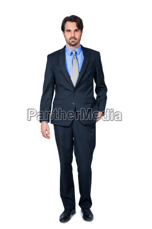 selbstbewuster young businessman with suit dark
