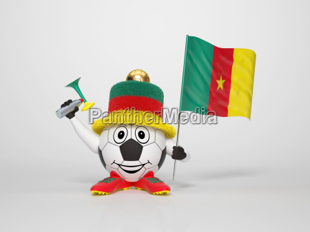 soccer character fan supporting cameroon