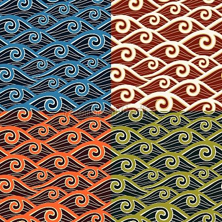 swirly wave pattern