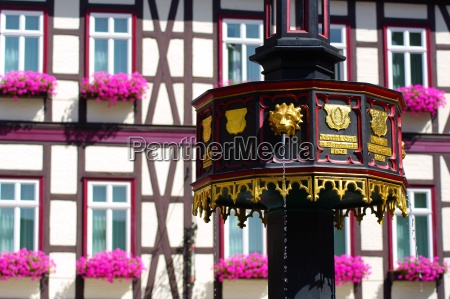 timber house in wernigerode in the