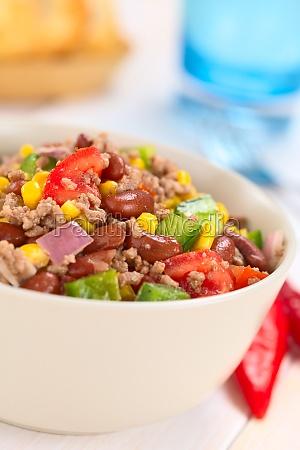 chili con carne salad