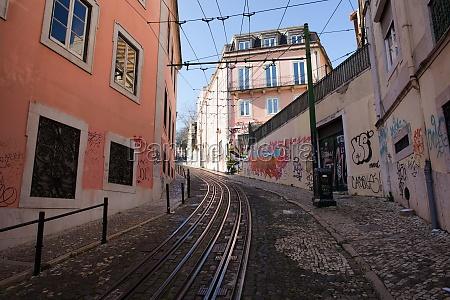 calcada da gloria street in lisbon