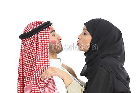arab saudi obsessed woman kissing a