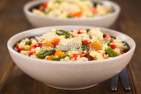 vegetable paprika peppers boiled chicken bean